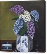 Blue Fish Vase Canvas Print