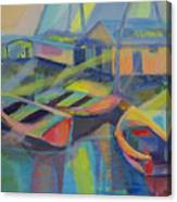 Blue Fishing Village Canvas Print