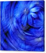Blue Floral Swirl Canvas Print