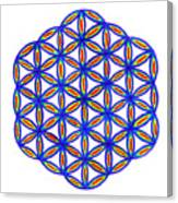 Blue Flower Of Life Canvas Print