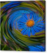 Blue Flower Whirlpool Canvas Print