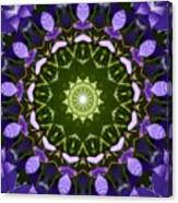 Blue Flowers Kaleidoscope Canvas Print