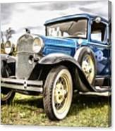 Blue Ford Model A Car Canvas Print