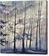 Blue Forest In Winter Canvas Print