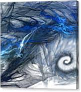 Blue Fractal Storm Canvas Print