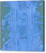 Blue Fragments Canvas Print