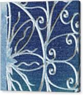 Blue Gate Mosaic Canvas Print