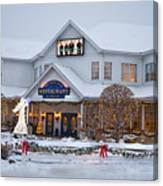 Blue Gate Restaurant Shipshewana In Winter Canvas Print