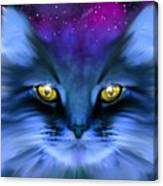 Blue Ghost Cat Canvas Print