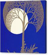 Blue Gold Moon Canvas Print