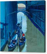 Blue Gondolas Canvas Print