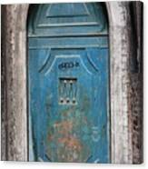 Blue Gothic Door In Venice Canvas Print