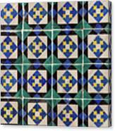Blue Green Lisbon Tiles Souvenirs Canvas Print