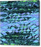 Blue Green Ocean Abstract Canvas Print