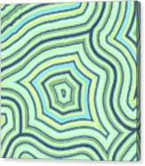 Blue Green Pattern Play Canvas Print