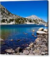 Blue Green Treasure Lake Canvas Print