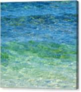 Blue Green Waves Canvas Print