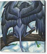 Blue Griffin Canvas Print