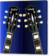 Blue Guitar Reflections Canvas Print