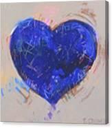 Blue Heart 126 Canvas Print