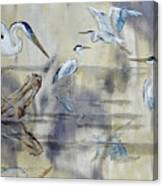 Great Blue Herons Chilling Canvas Print