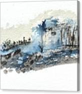 Blue Hillside Canvas Print