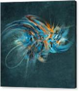 Blue Hornet Fractal Art Canvas Print