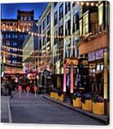 Blue Hour At East Fourth Canvas Print