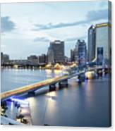 Blue Hour In Jacksonville Canvas Print