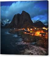 Blue Hour In Lofoten Canvas Print
