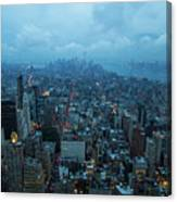 Blue Hour In New York Canvas Print