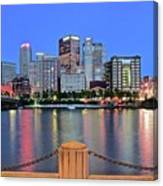 Blue Hour In The Steel City Canvas Print
