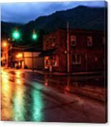 Blue Hour In Webster Springs Canvas Print