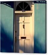 Blue House Door Canvas Print