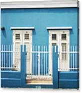 Blue Curacao House Canvas Print