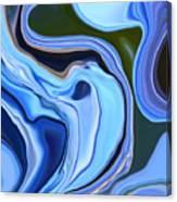 Blue Hydrangea Abstract  Canvas Print