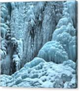 Blue Ice Flows At Tangle Falls Canvas Print