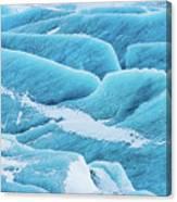 Blue Ice Svinafellsjokull Glacier Iceland Canvas Print