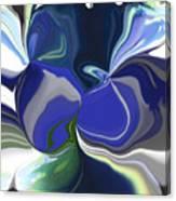 Blue Impression Canvas Print