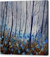 Blue In The Wood Canvas Print