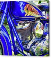 Blue Indian Canvas Print