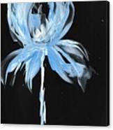 Blue Iris Bulb Canvas Print
