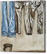 Blue Jeans. Canvas Print