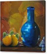 Blue Jug On The Shelf Canvas Print