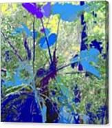 Blue Jungle Canvas Print