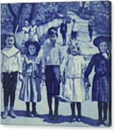 Blue Kids Canvas Print