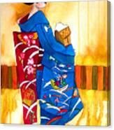 Blue Kimono 2 Canvas Print