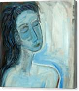 Blue Lady Abstract Canvas Print