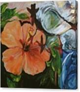 Blue Lady Collage Canvas Print