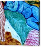Blue Lady Canvas Print